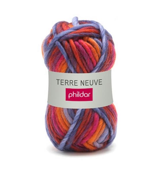 grosse laine tricoter phildar laine terre neuve coloris cocktail laine tricoter pelotes. Black Bedroom Furniture Sets. Home Design Ideas