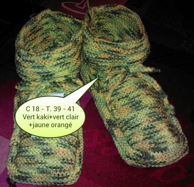 paire de chaussons adulte taille 39 41 tricot e main au point de godron laine tricoter. Black Bedroom Furniture Sets. Home Design Ideas